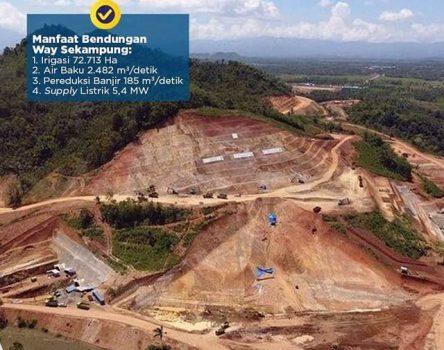 Bendungan Way Sekampung Dukung Lampung Jadi Lumbung Pangan Nasional