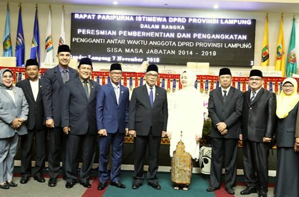 PAW Anggota DPRD, Wagub Bachtiar Basri Hadiri Pelantikan Indra Ismail