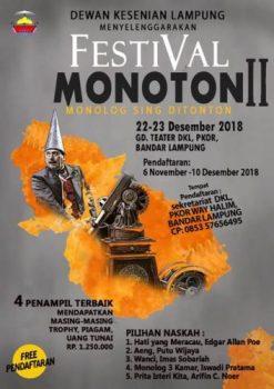 33 Aktor-Aktris akan Adu Akting pada Festival Monolog DKL 2018