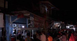 Suasana Pasar Gudang Lelang Bandarlampung usai meledaknya tabung gas, Jumat petang (30/11/2018).