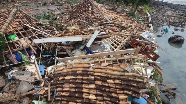 Dampak tsunami Selat Sunda di Desa Kunjir, Kecamatan Kalianda, Lampung Selatan. Foto: Ichwanto M.Nuh