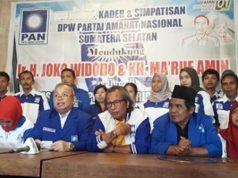Para kader PAN Sumsel deklarasikan dukungan untuk Jokowi-Ma'ruf Amin (Foto: Istimewa/Lentera Pendidikan)