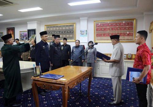 Wagub Bachtiar Basri Lantik Dua Pejabat Tinggi Pratama