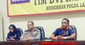 Kabid Dokkes Polda Lampung, Kombes Pol Andri Bandarsyah,menjelaskan data terbaru jumlah korban tsunami Selatan Sunda di wilayah Lampung.