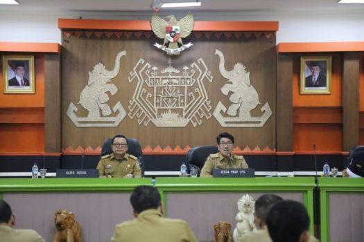 Pemprov Lampung Siap Sukseskan Bulan Bakti Karang Taruna Tingkat Nasional 2019