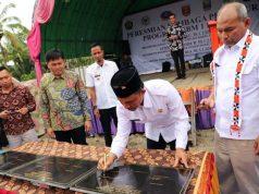 Peresmian SPBKB Sukau, Lampung Barat, Rabu, 2 Januari 2019.