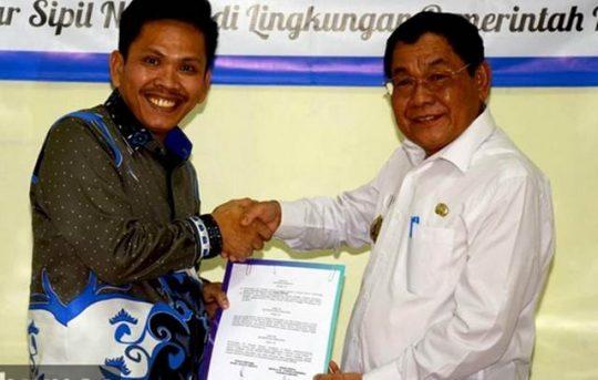 Pemkab Mesuji-PT Taspen Teken MoU JKK dan JKm bagi Pegawai Non-ASN