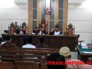 Sidang Pengadilan Tinggi Tipikor Tanjungkarang dalam kasus fee proyek Lampung Selatan dengan terdakwa Agus BN dan mantan Kadis PUPR Lamsel Anjar Asmara, Kamis, 14 Februari 2019. Sidang dengan agenda mendengarkan keterangan para saksi.