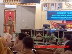 Suasana forum konsultasi publik yang dilaksanakan oleh Bappeda Lampung Utara