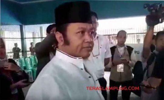 Tidak Dapat Kertas Suara, Zainudin Hasan Marah Besar di TPS Lapas Rajabasa