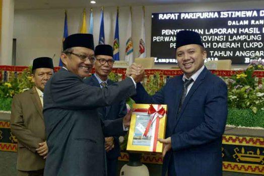 Provinsi Lampung Raih Predikat Opini WTP Lima Tahun Berturut-turut