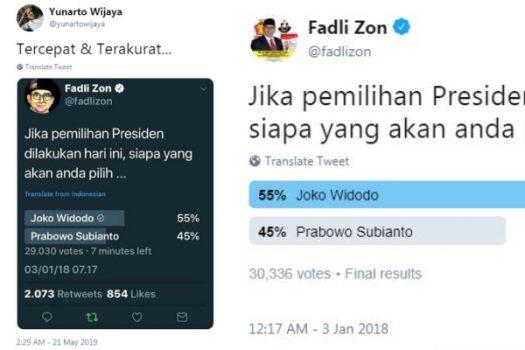 Lebih Akurat Dibanding Lembaga Survei, Fadli Zon Sudah Prediksi Jokowi Menang Sejak 2018