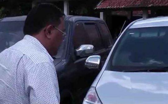 Diduga Terkait Kasus Mobil Dinas, Mantan Wakil Bupati Lampung Utara Sambangi Polres
