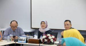 Wagub Chusnunia Chalim di Gedung Rektorat Universitas Bandar Lampung (UBL), Jumat (21/6/2019).