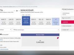 Gambar tangkapan layar atau screenshoot maskapai penerbangan China Airlines menjual tiket pesawat dengan rute Jakarta - Makassar. Gambar tersebut tersebar viral melalui berbagai grup percakapan dan media sosial belakangan ini seiring dengan pro kontra wacana maskapai asing diizinkan garap rute domestik untuk menekan harga tiket pesawat. china-airlines.com
