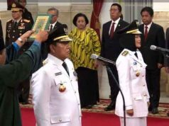 Pelantikan Gubernur - Wakil Gubernur Lampung periode 2019 - 2024 di Istana Negara, Rabu, 12 Juni 2019.