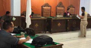 Suasana sidang pra peradilan korbam salah tangkap