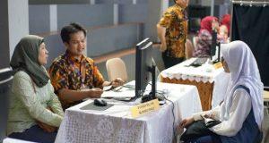 SITUASI simulasi pendaftaran Penerimaan Peserta Didik Baru (PPDB) 2019 di SMA Negeri 2 Bandung, Kamis 13 Juni 2019.*/DOK HUMAS PEMPROV JABAR