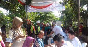 Pengobatan gratis di Stasiun Candimas, Lampung Utara, Selasa (26/6/2019).