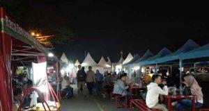 Suasana Bandarlampung di Langan Korem Gatam, Enggal, Jumat malam, 26 Juli 2019.