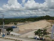 Proyek Bendungan Way Sekampung di Kabupaten Pringsewu.