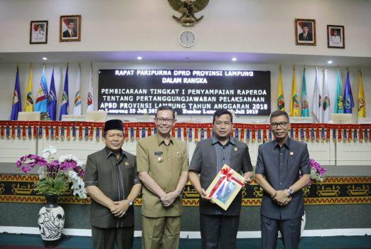Pj Sekda Lampung Sampaikan Raperda LPJ Pelaksanaan APBD 2018