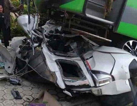 Tabrakan Maut di Jalinsum Lampura, Polisi Amankan Sopir Bus