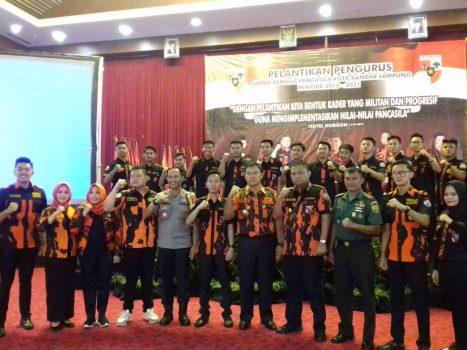 Rycko Menoza Hadiri Pelantikan Sapma Pemuda Pancasila Bandarlampung