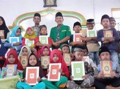Penyerahan Al Quran oleh PAC Ansor Kasui, Way Kanan, Lampung.