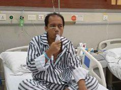 Sutopo Purwo Nugroho saat dirawat di rumah sakit di Guangzhou, China. Sutopo meninggal dunia pada Minggu dini hari, 7 Juli 2019. Foto: Istimewa