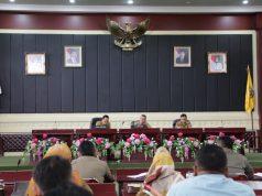 Rapat persiapan Lampung Krakatau Festival 2019, di Gedung Pusiban, Kantor Gubernur Lampung, Senin (29/7/2019).