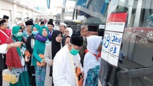 14 Kloter Terakhir Jamaah Indonesia Gelombang I Diberangkatkan ke Makkah