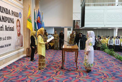 Ny. Riana Sari Dikukuhkan Sebagai Bunda PAUD Lampung