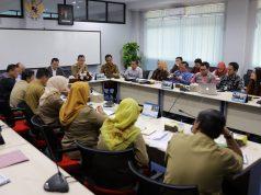 Rapat koordinasi pelaksanaan program prioritas Kartu Petani Berjaya, di Gedung Rektorat Universitas Bandarlampung, Selasa (2/7/2019).
