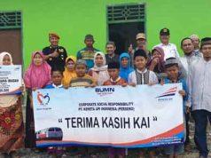 Penyerahan dana CSR PT KAI Tanjungkarang untuk warga Desa Tanjungsari,Natar.
