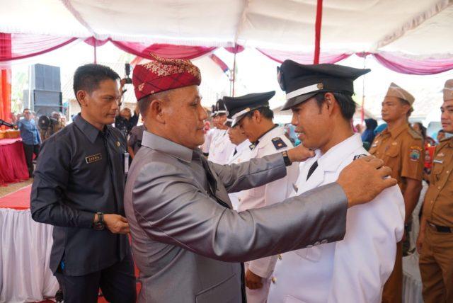Pelantikan tujuh kepala desa di Kecamatan Panengahan.