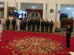 Pelantikan Rusli Baco Daeng Palabbi sebagai Wakil Gubernur Sulawesi Tengah di Istana Negara, Senin, 26 Agustus 2019 (Foto: liputan6.com)