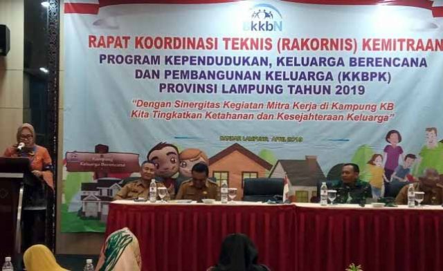 Rakornis KKBPK Provinsi Lampung, di Bandarlampung, Selasa, 30 April 2019