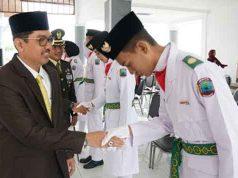 Pengukuhan Paskibra Lampung Selatan 2019.