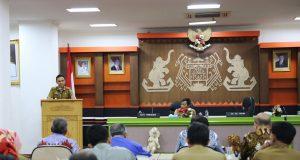 Sosialisasi Tata Kelola Lada dan Implementasi Indikasi Geografis Lada Hitam Lampung (IG-LHL), di Ruang Sungkai, Balai Keratun, Kompleks Kantor Gubernur Lampung, Senin (26/8/2019).