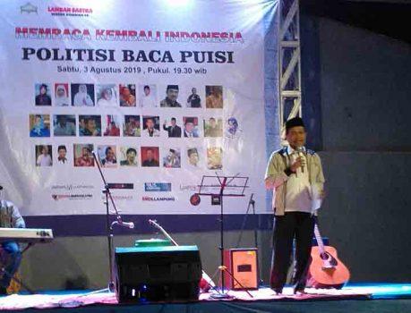 Baca Puisi di Lamban Isbedy, Ketua PKS Lampung Ternyata Punya Bakat Terpendam