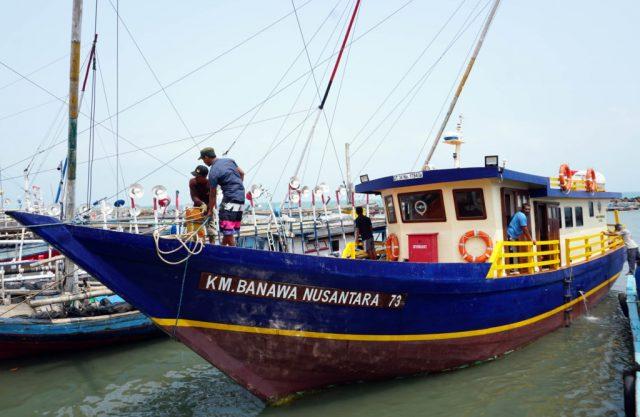 Kapal Pelayaran Rakyat (Pera) Banawa Nusantara 73 bantuan hibah dari Kementerian Perhubungan RI