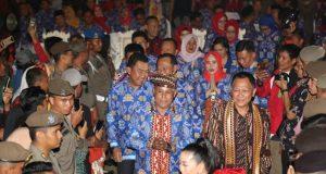 Plt Bupati Lampung Selatan Nanang Ermanto usai membuka Lampung Selatan Fair 2019.