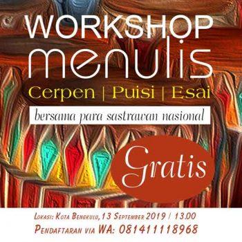 Festival Sastra Bengkulu akan Digelar pada 13 – 15 September 2019