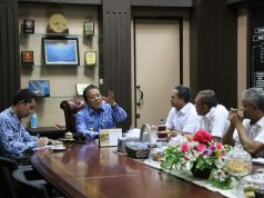 Gubernur Arinal saat menerima audiensi dari Direktur Utama PTPN VII, di Ruang Kerja Gubernur, Selasa (17/9/2019).