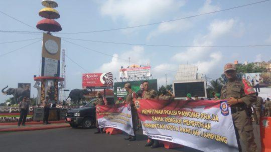 Difitnah Robohkan Masjid, Pol PP Bandarlampung Desak Polisi Tangkap Pelaku
