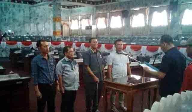 Geladi bersih pelantikan Ketua dan Wakil Ketua DPRD Lampura, Minggu sore (13102019).
