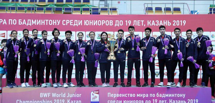 Indonesia meraih juara dunia Bulutangkis Junior 2019 (Foto: badmintonindonesia.org)