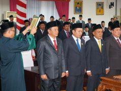 Pelantikan empat pimpinan DPRD Kabupaten Lampung Selatan, Kamis (10/10/2019).