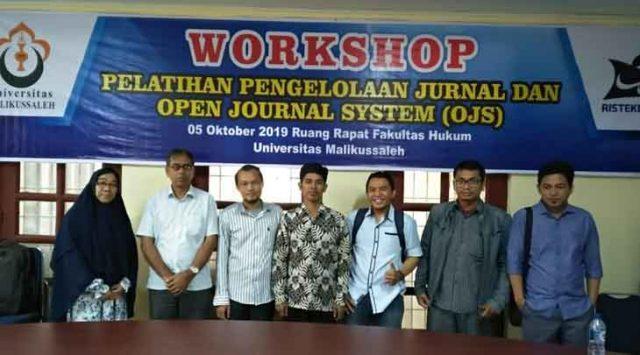 Worskhop Pengelolaan Jurnal dengan OJS di Fakultas Hukum Unimal Lhokseumawe, Sabtu, 5 Oktober 2019